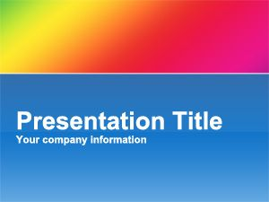 Colorful Background PowerPoint Slide