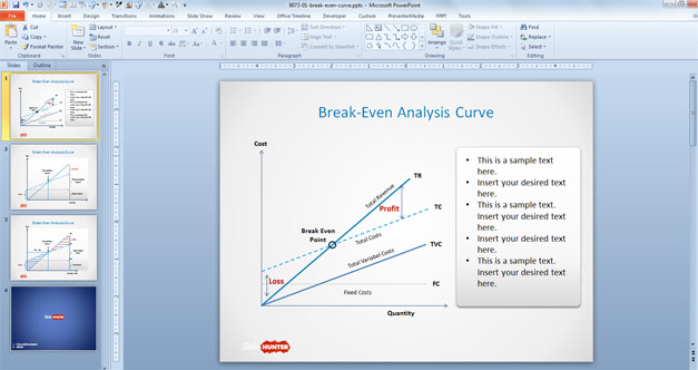 Break-Even Curve Design for PowerPoint