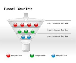 steps powerpoint template funnel analysis