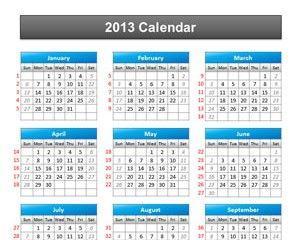 Calendar 2013 PowerPoint Template