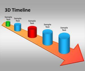 3D Timeline PowerPoint Template