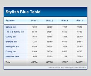 Tables Template for PowerPoint