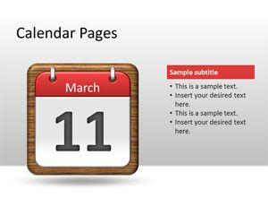 Calendar Pages PowerPoint Template