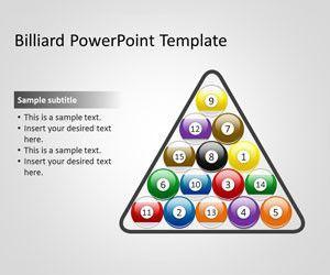 Plantilla PowerPoint con Bolas de Billar