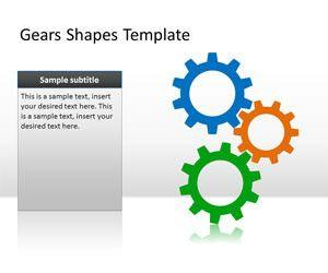 Gears PowerPoint Shapes Template