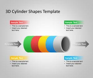 Figuras de Cilindros 3D para PowerPoint
