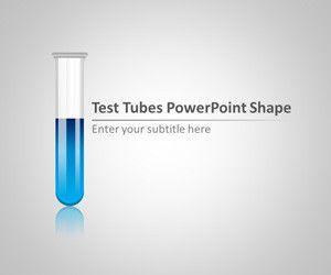 Plantilla PowerPoint de Tubos de Ensayo