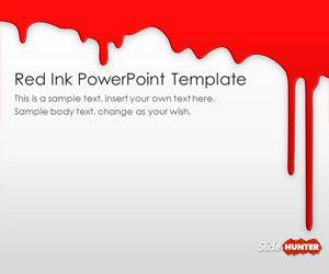 free blue ink powerpoint template