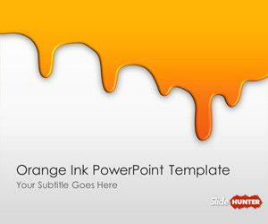 Orange Ink PowerPoint Template