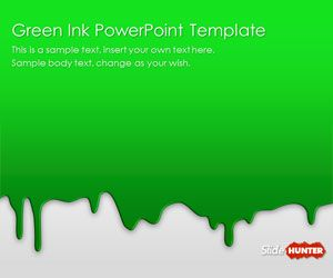 Green Ink PowerPoint Template