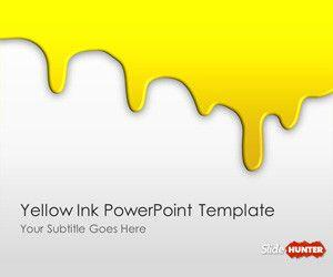 Yellow Ink PowerPoint Template