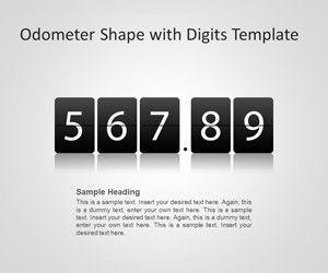 Odometer Shape with Digits PowerPoint Template