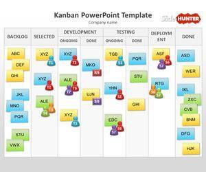 Plantilla PowerPoint Kanban