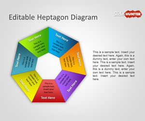 Editable Heptagon Diagram for PowerPoint