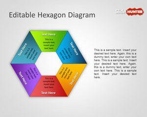 Editable Hexagon Diagram for PowerPoint