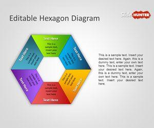 Editable Hexagon Diagram for PowerPoint