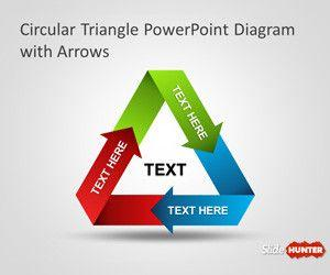 Circular Triangle PowerPoint Diagram with Arrows