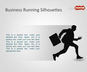 Business Running Silhouettes PowerPoint Template