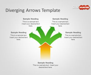 Diverging Arrows PowerPoint Template