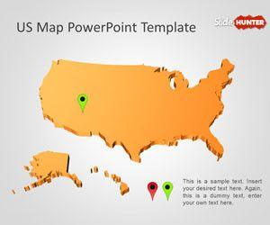 Free US Map PowerPoint Template - Free PowerPoint Templates ...