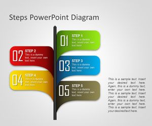 Steps PowerPoint Diagram