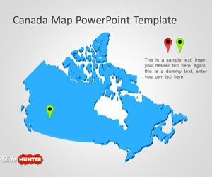 free canada map powerpoint template. Black Bedroom Furniture Sets. Home Design Ideas