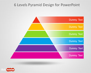 6 Level Pyramid Template for PowerPoint