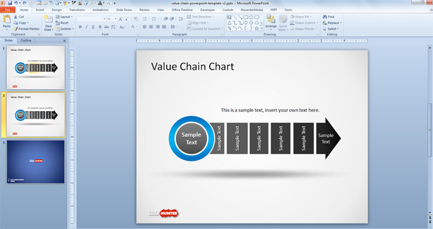 Free Value Chain Chart Template for PowerPoint is a nice value chain    Value Chain Model Template