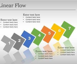 Linear Flow Template for PowerPoint