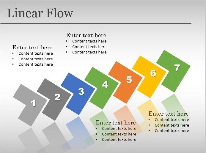 free linear flow template for powerpoint free powerpoint templates