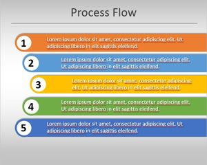 Simple Process Flow Template For Powerpoint
