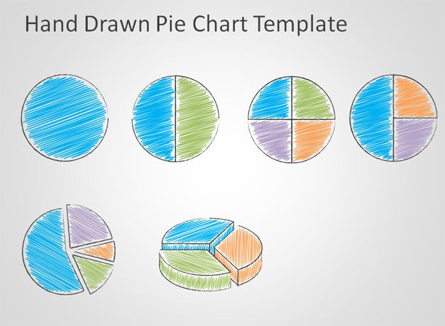 free Hand Drawn Pie Chart Template for PowerPoint