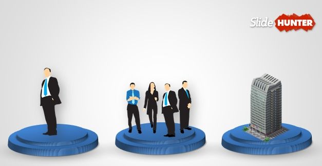 3D Plate with Business People