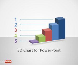 3D Concept Bar Chart Design for PowerPoint