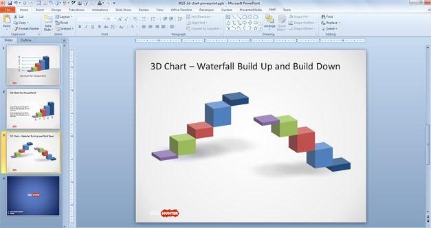 waterfall chart PowerPoint 3D