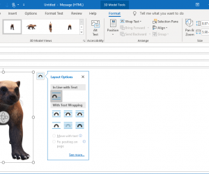 3d model in outlook