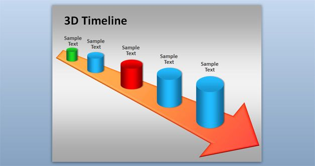 Free 3d Timeline Powerpoint Template Free Powerpoint
