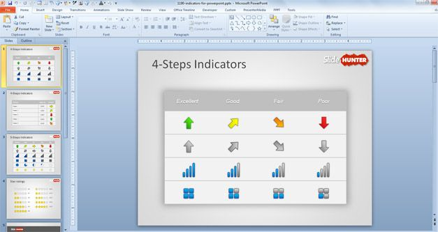 Free KPI Indicators Template For PowerPoint