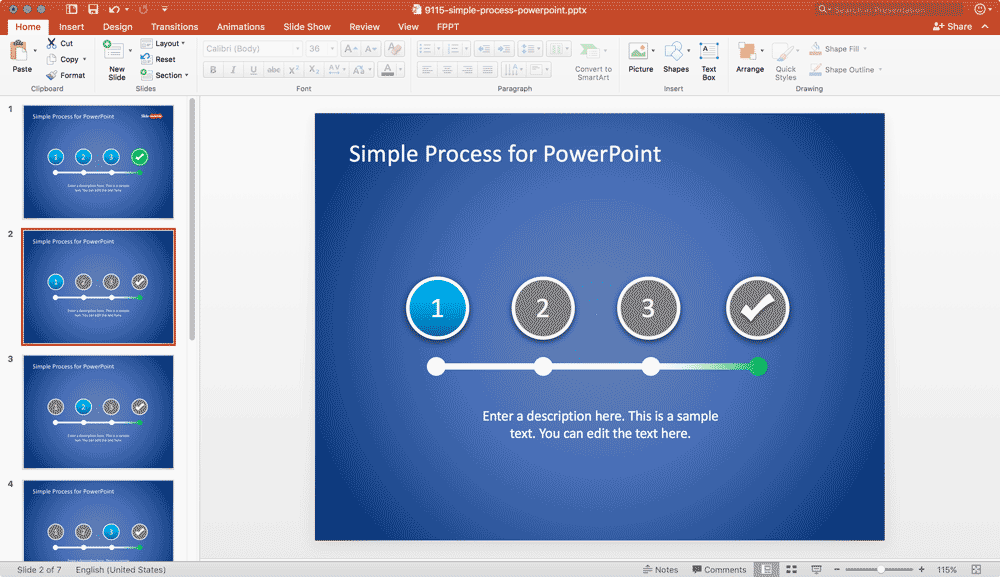 4-steps-powerpoint-simple-process-workflow