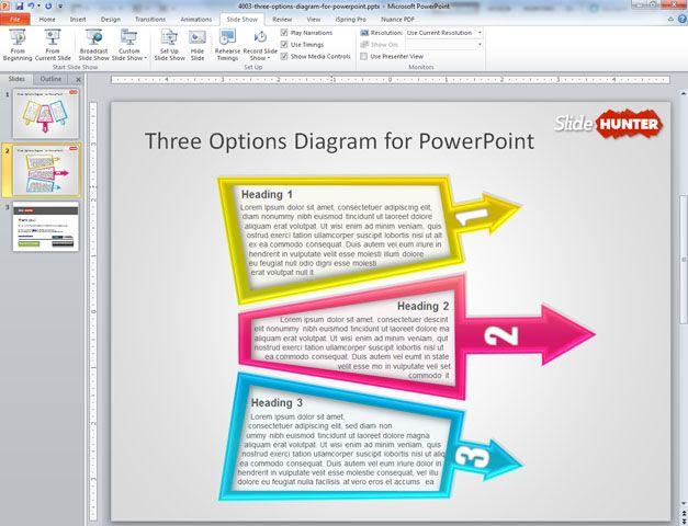 3 steps diagram