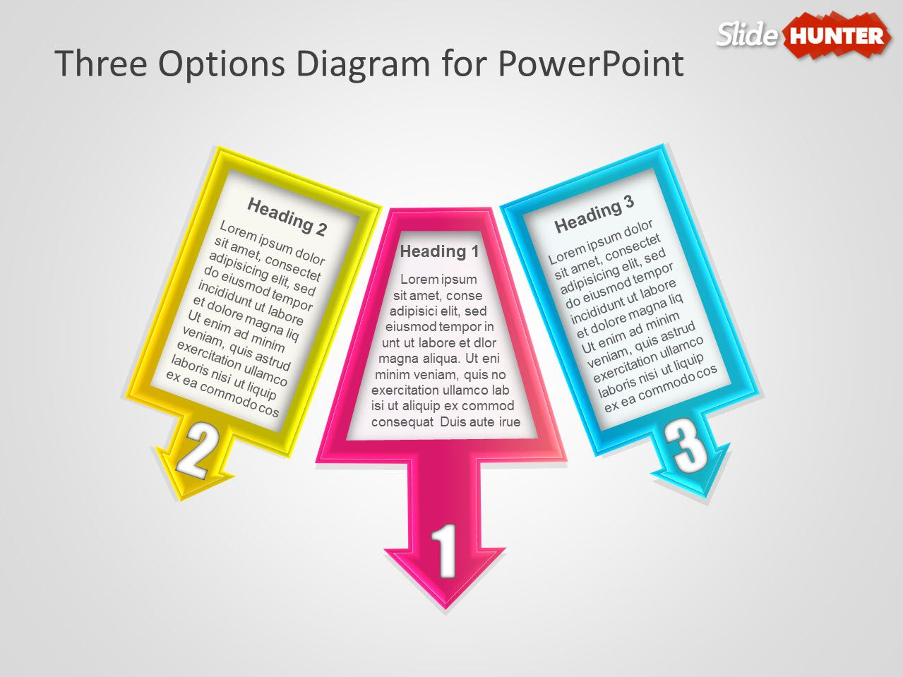 Three Options Diagram for PowerPoint Presentations