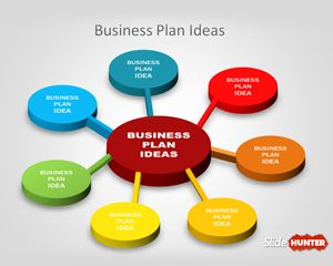 3D Business Plan Diagram Idea for PowerPoint