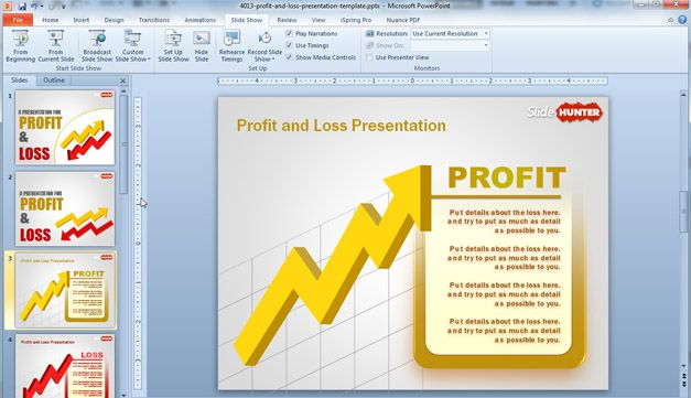 P&L PowerPoint template