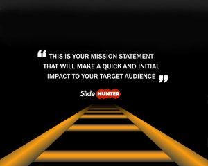 Mission Statement Slide Template for PowerPoint