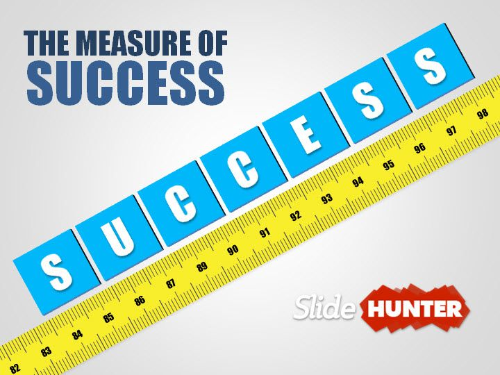 3D Measuring Success PowerPoint Template