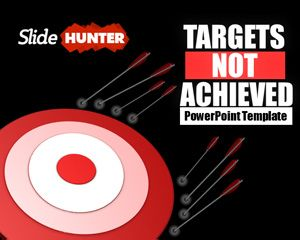 Targets Not Achieved PowerPoint Template