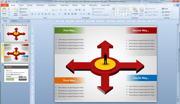 Four Arrows PowerPoint Template