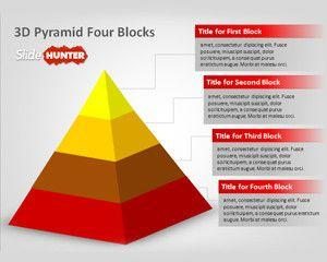 free 3d pyramid four blocks powerpoint template free powerpoint templates. Black Bedroom Furniture Sets. Home Design Ideas
