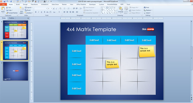 Free Matrix 4x4 Slide Design