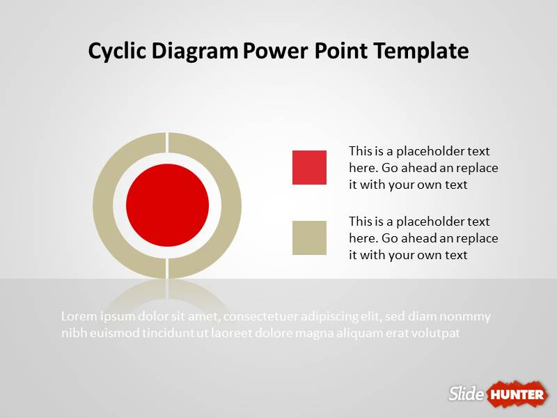 Cyclic Diagram Template for PowerPoint
